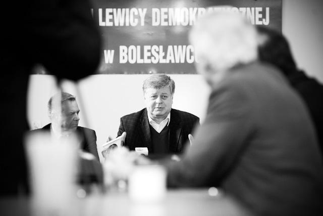 Jerzy Szmajdziński podczas ostatniej wizyty w Bolesławcu w grudniu 2009 roku
