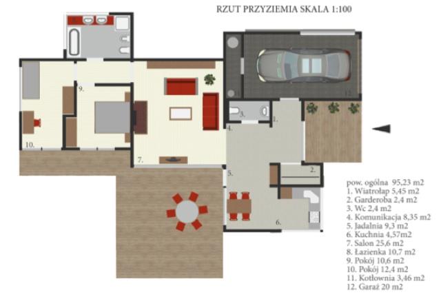 Rzut domu z koncepcji Klaudii Chudzik