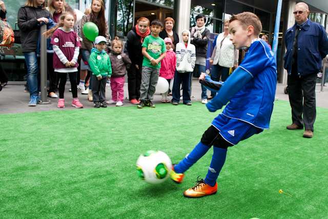 Dużym zainteresowaniem cieszyły się konkursy organizowane przez Football Academy Bolesławiec