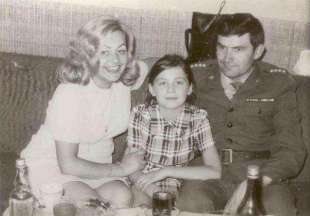 Barbara Łaba z mężem i córką Irminą