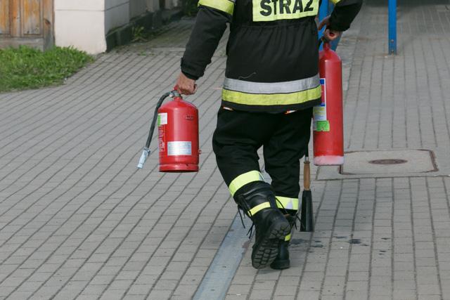 Strażacy gaszą pociąg Kolei Dolnośląskich 3