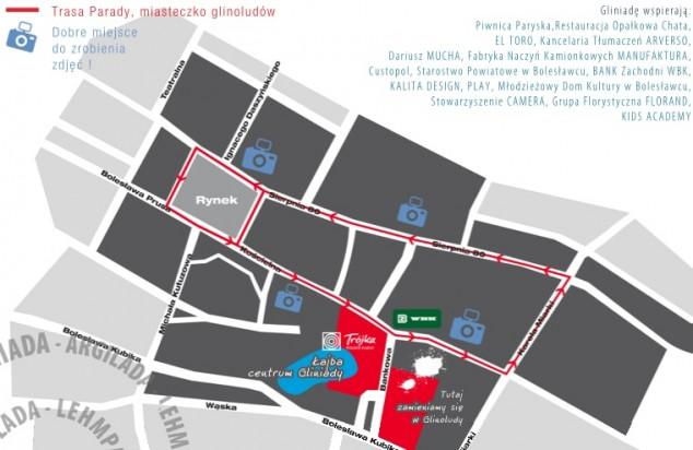 mapa Gliniada 2013