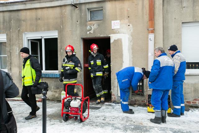Strażacy na miejscu zdarzenia