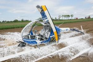 helikopter po wypadku