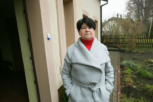Bożena Libera z Kliczkowa od razu zgodziła się aby tablica zawisła na jej domu