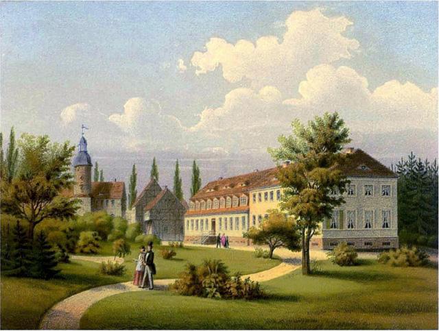 Schloss Baruth um 1860