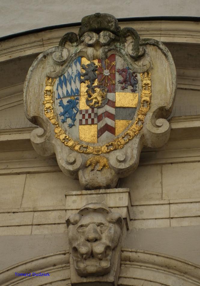 Il. 5 Herb Pfalz-Neuburg w Neuburgu nad Dunajem